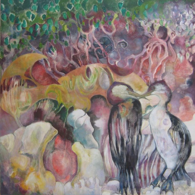 Cormorants, Sandy Haven - Image 0
