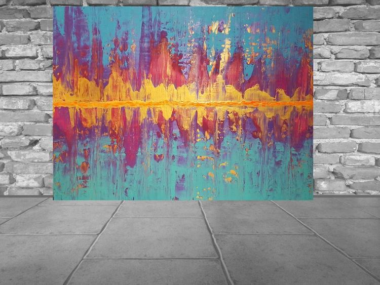 River dance - large palette knife painting - Image 0