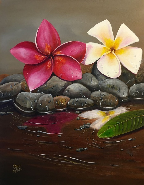 Frangipani by the Stream - Image 0