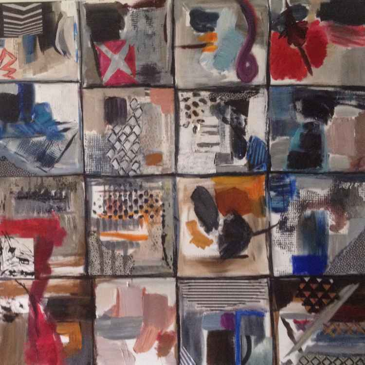 Abstract acrylic with some collages