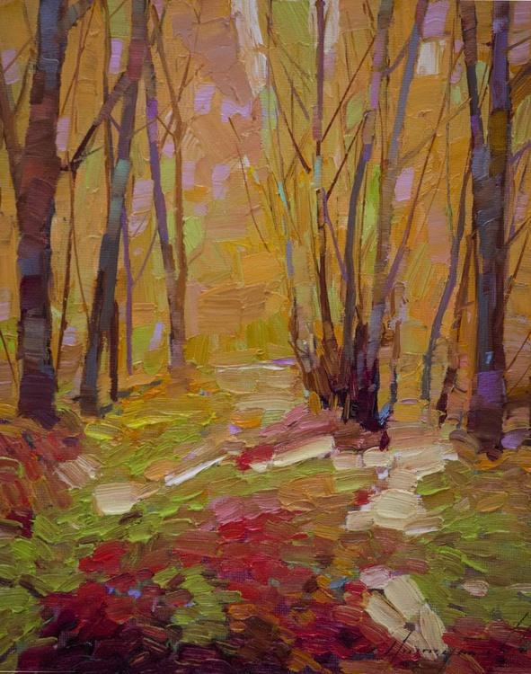 Autumn Trees Handmade oil Painting on Canvas - Image 0