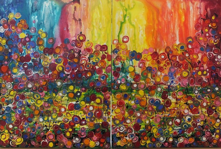 Optimistic Concept (Diptych - Large) - Image 0