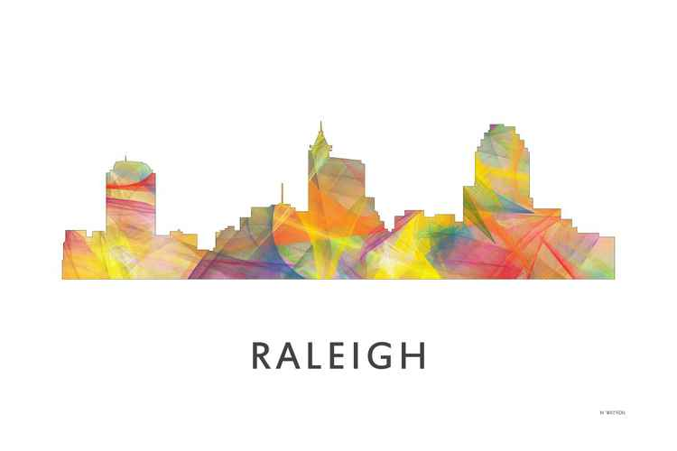 Raleigh North Carolina Skyline WB1 -