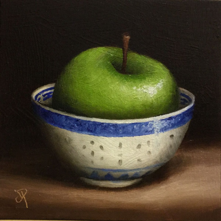 Apple in a Bowl - Image 0