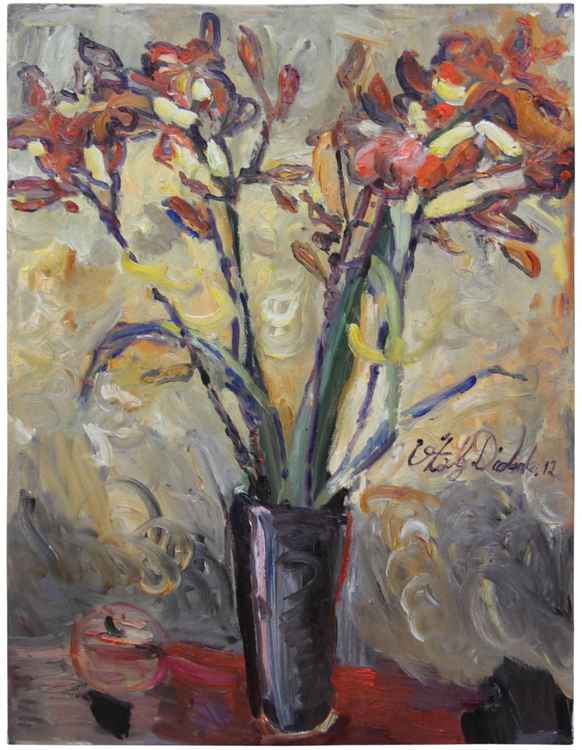 March Irises  (80x60cm) -