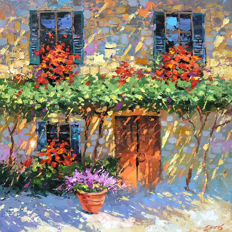 House of flowers by Dmitry Spiros, 60cm x 60cm, 2015