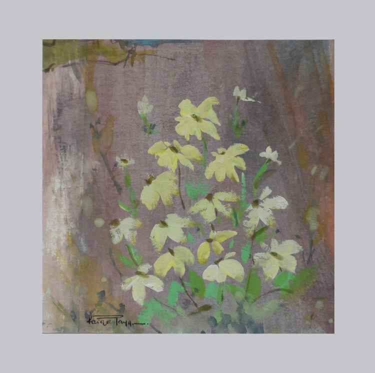 Yellow flowers (mini painting) -
