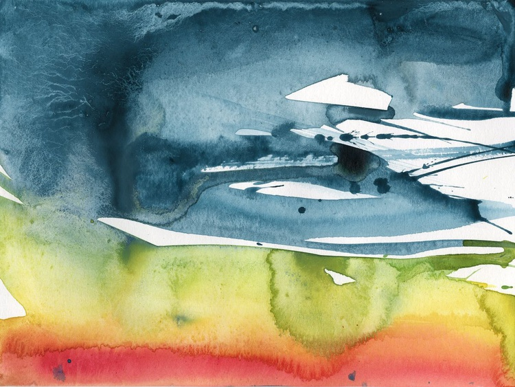 Serenity 19 - Abstract Watercolor Painting by Kathy Morton Stanion - Image 0
