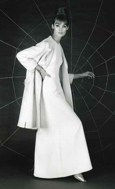 Jean Shrimpton wearing a Susan Small gown.