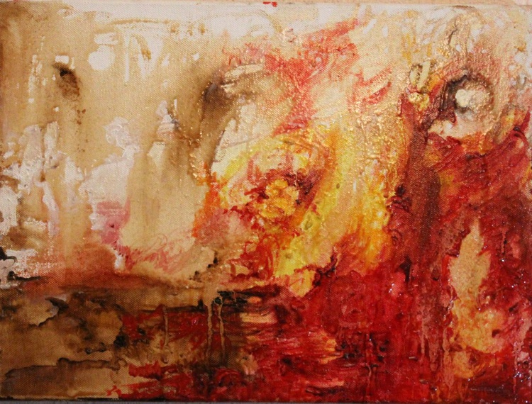 Walk with me -abstract painting - Image 0