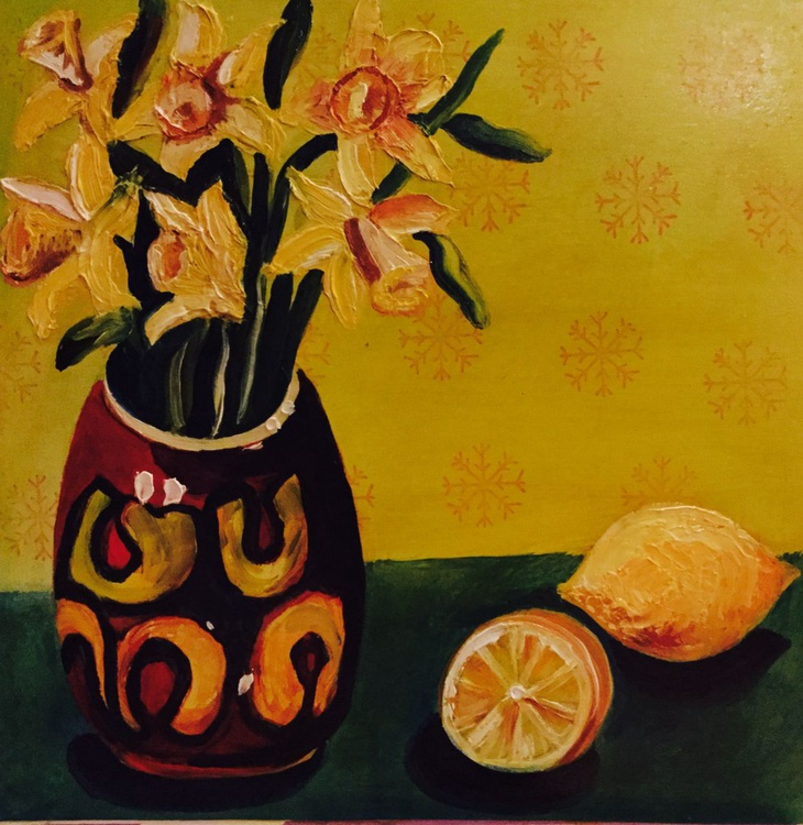 Daffodils and Delphis - Image 0