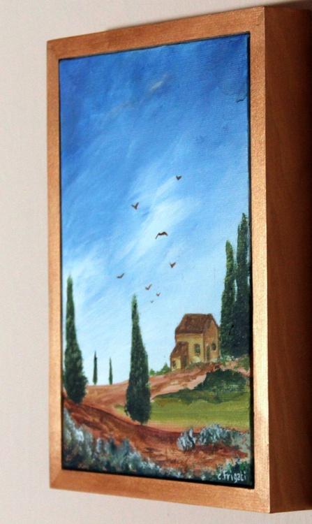 Tuscan hills- original, framed landscape - Image 0