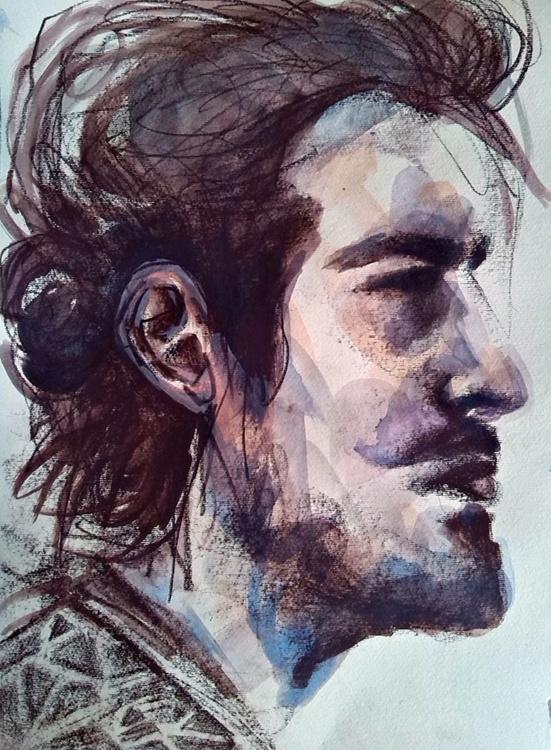 Melanholic portrait - Image 0