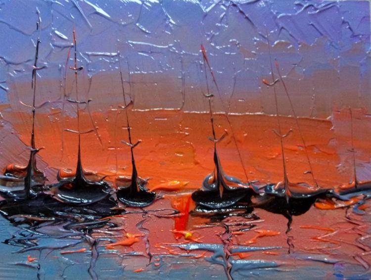 Evening Yachts, 20x15 cm - Image 0