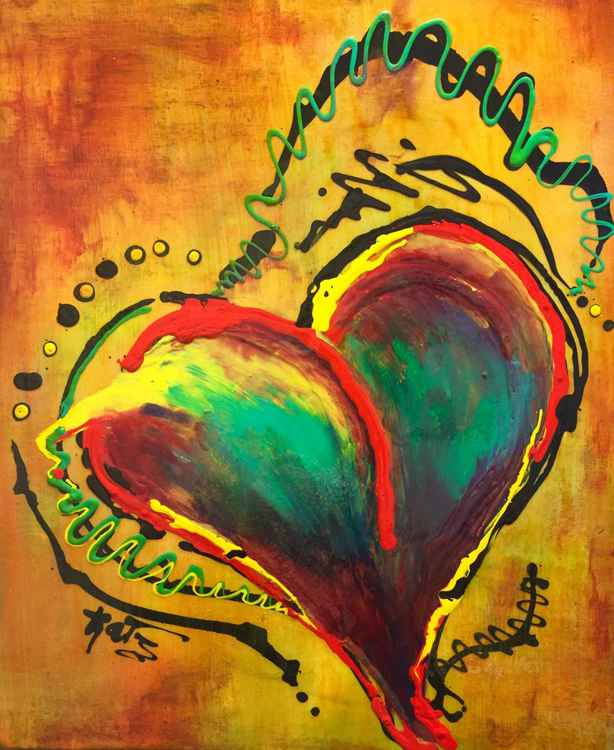 Abstract Multi Colored Heart