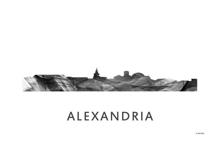 Alexandria Virginia Skyline WB BW -