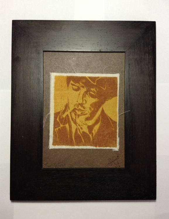 Tom Waits Limited Edition Fabric Print 2014 - Image 0