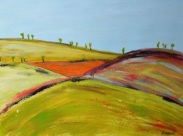 Abstract Impressionist Landscape Rural life of tranquility - Image 0