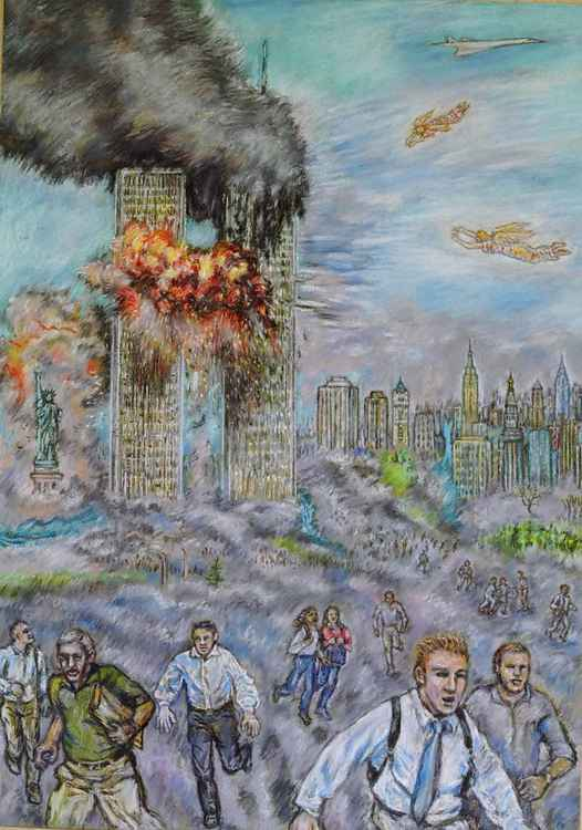 Twin Towers attack with Angels -