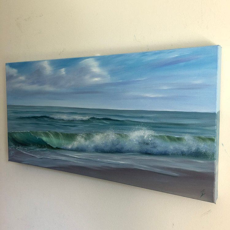 Coastal Bliss (2018) Oil painting by Eva Volf | Artfinder