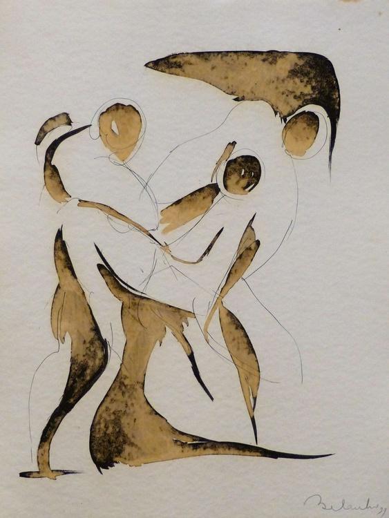 Surrealist drawing 4, 36x48 cm - Image 0