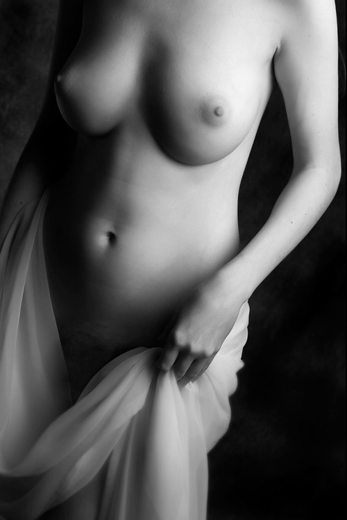 Untitled Nude with Fabric - Image 0
