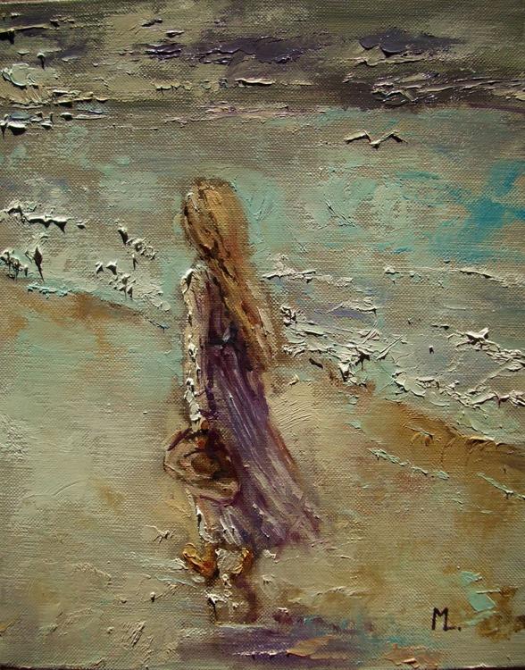 """ SEA... "" original painting palette knife GIFT MODERN URBAN ART OFFICE ART DECOR HOME DECOR GIFT IDEA - Image 0"