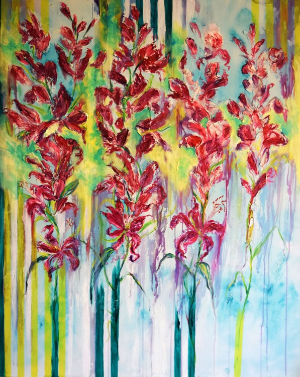 Abstract flowers / X Large Modern Abstract Contemporary - Image 0