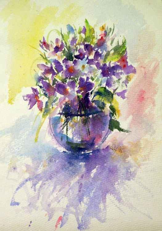 Still life with violet -