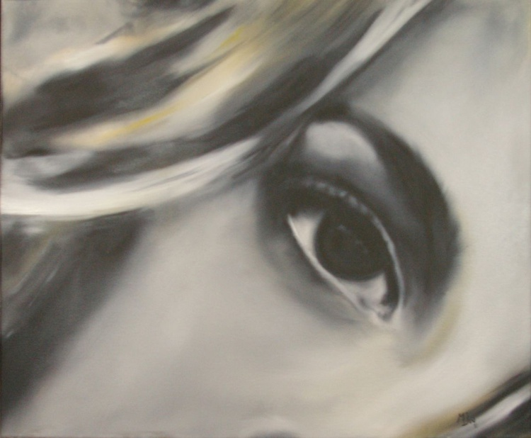 Stare II - Realistic One of a Kind Original Portrait - Oil Painting - Image 0