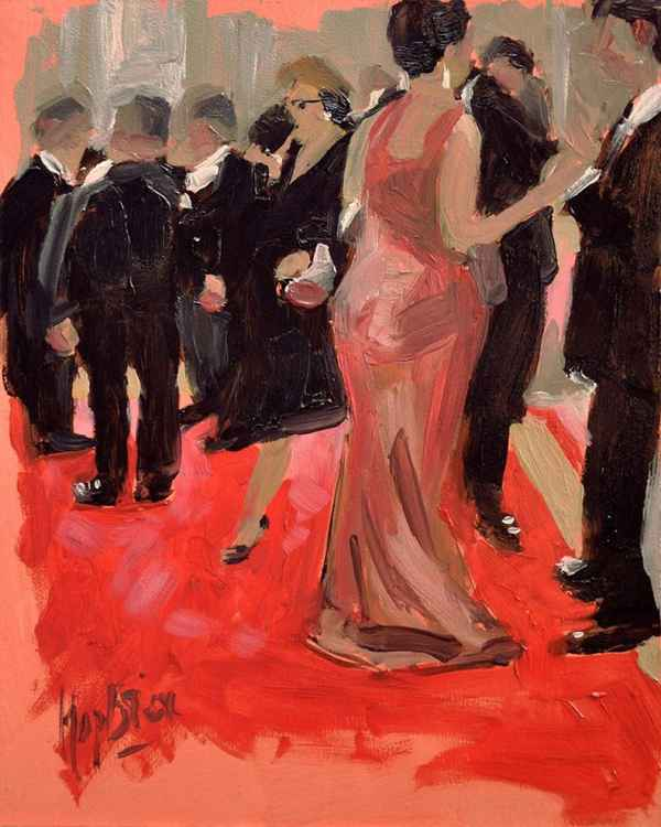 The red carpet in the White House