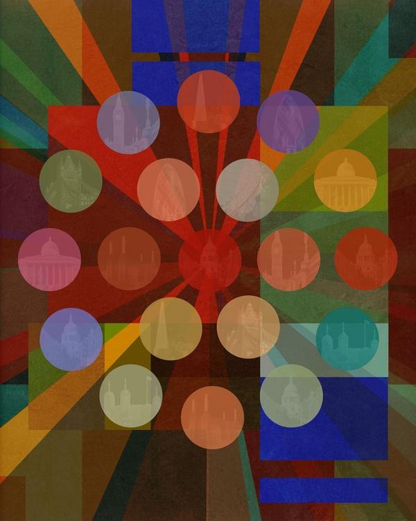 """Hotspots (London Bauhaus Series) - Fine-Art Giclée - 20""""x 24"""" Edition of 20 - Image 0"""