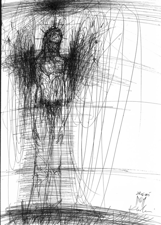 """FROM """"SIGNAL ANGELS SERIES """" - Composition signed 28 June 2015 by master OVIDIU KLOSKA - Image 0"""