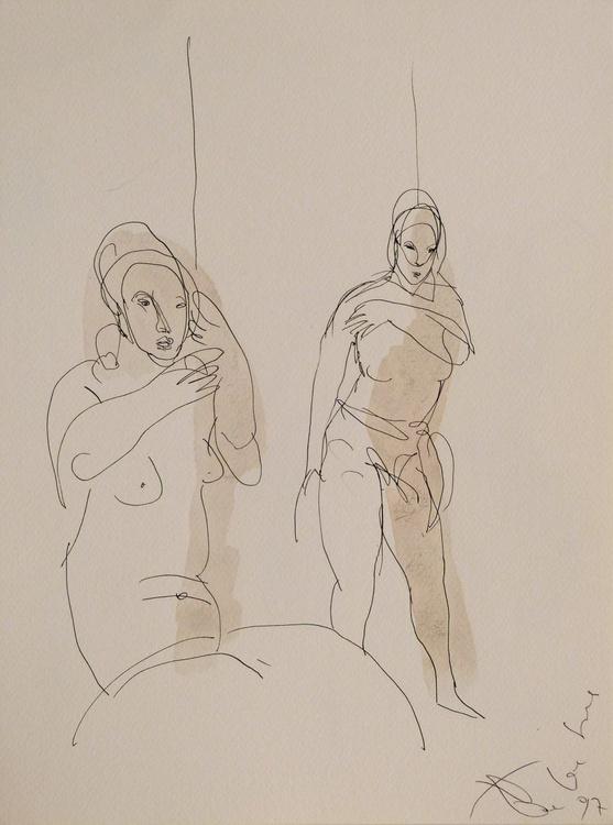 Two Women 2, 24x32 cm - Image 0