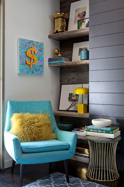 Blue and Yellow Dollar - Image 0