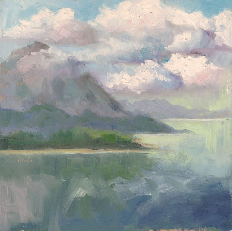 Aft Refelections - plein air Inside Passage - Image 0
