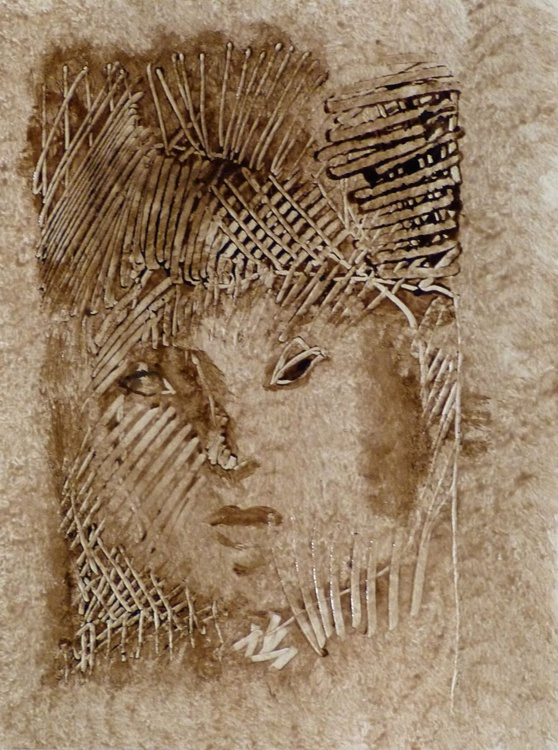 Portrait, embossed effect 24x32 cm - Image 0