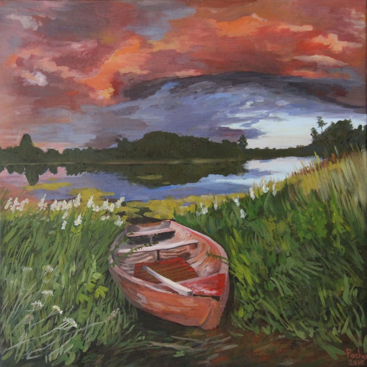 Landscape with the boat - Image 0