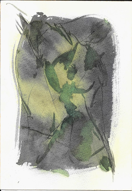 Small Abstract Drawing #27, 18x26 cm - Image 0