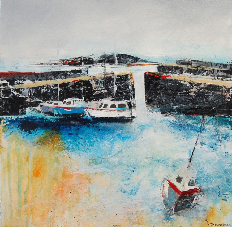 Boats in Mousehole Harbour - Image 0
