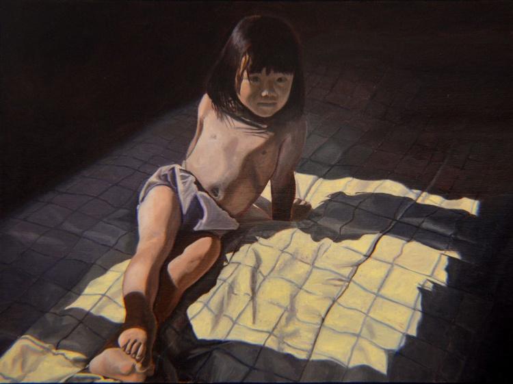 My Little Cheesecake Wahzheetah - child portrait - little girl - bedroom - Image 0