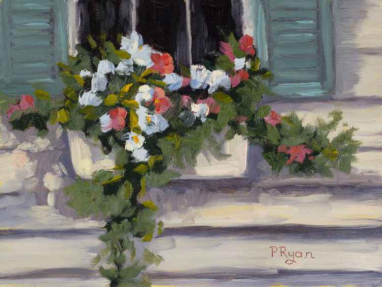 Flowers in the Window Box -
