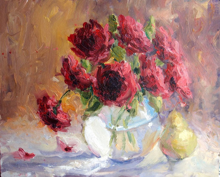 Still life with roses - Image 0