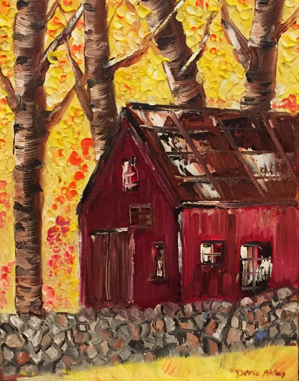 The Red Barn in Fall - Image 0