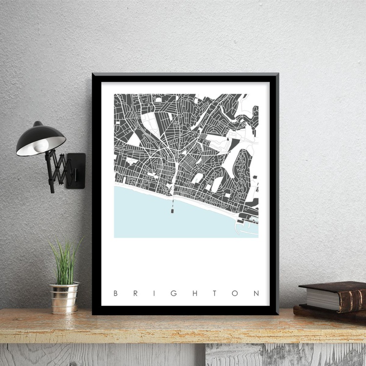 Brighton Map Art - Limited Edition Prints - Image 0