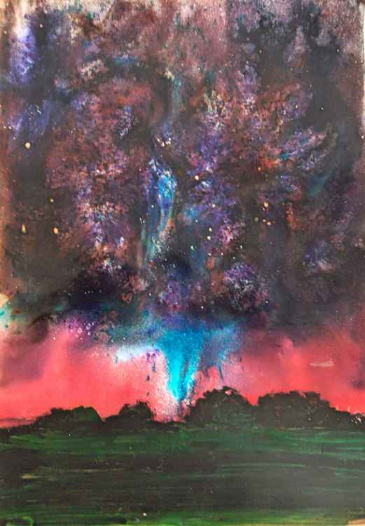 [127] Electric Sky Abstract -