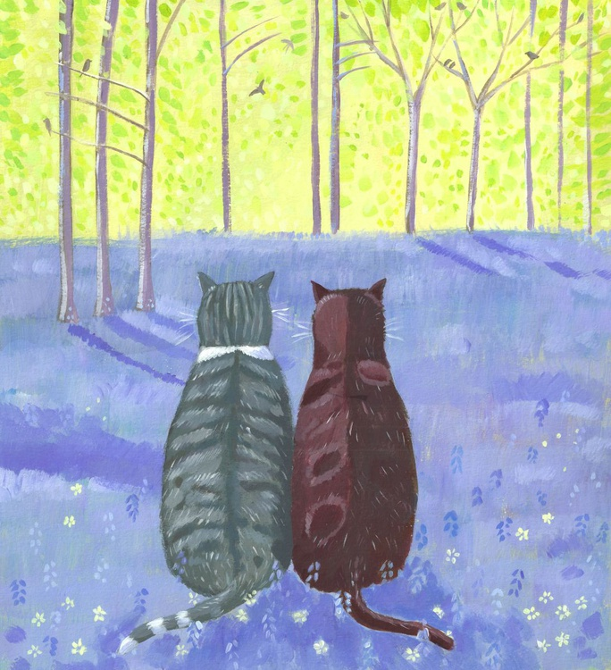 Birdwatching in the bluebells - Image 0