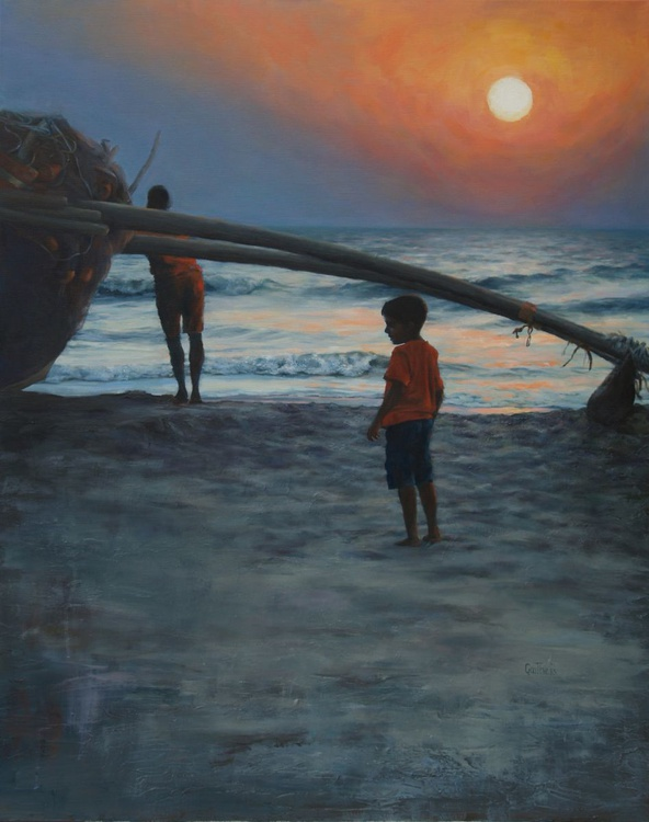 Goa beach at dusk - Image 0