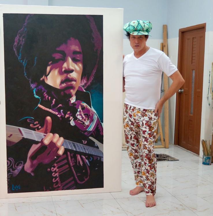 Jimi Hendrix by Justin Love - Image 0