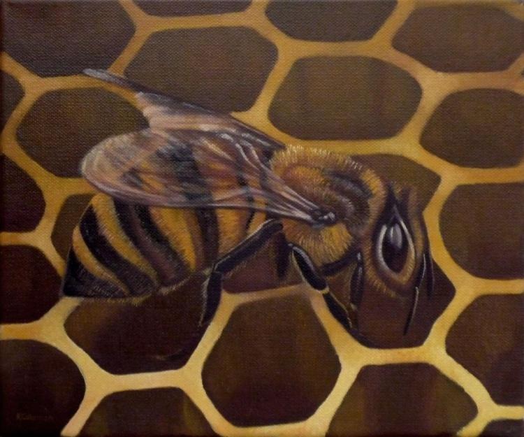 Bee On Honeycomb - Image 0